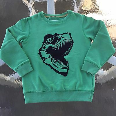 Mini Boden AWESOME Green DINO SWEATER 6-8 EXQUISITE!! Very Rare, Great!!