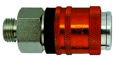 Walcom High Flow airline Euro Coupling with connector - Quick Release