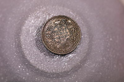 India 1/4 Rupee 1943 Silver Nice Details A53 #k6908
