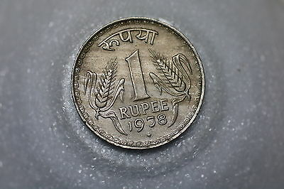 India 1 Rupee 1978 Nice Details A53  #z3025