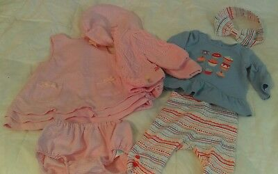 Adorable 7 piece Baby Girl Clothes Lot Size 0-3 months Dress Fall ~ Gymboree