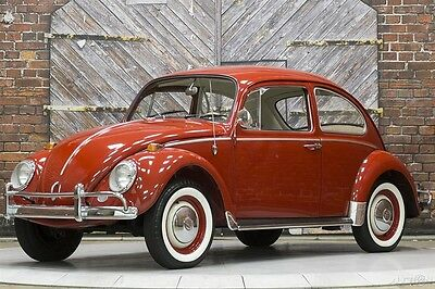1966 Volkswagen Beetle - Classic 1300 Ruby Red Platinum White Leatherette 66 Later 1600 cc 58hp engine 12 Volt