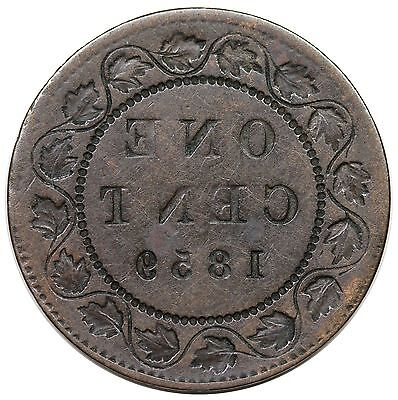 1859 Canada Large Cent, Victoria, reverse brockage, nice VF-XF