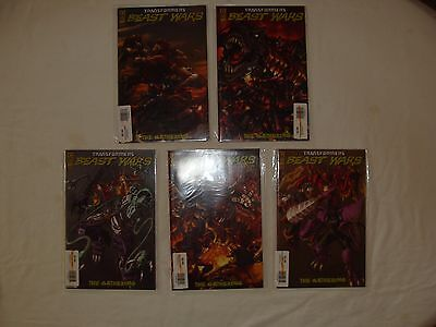Lot Of 5 Transformers Beast Wars The Gathering 1 2 3 - 4 Variants - Near Mint