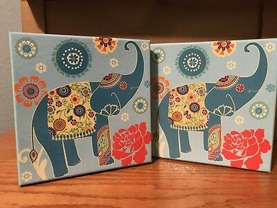 Lot of 2 ELEPHANT STORAGE BOXES