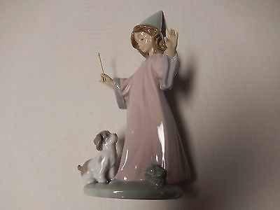 Lladro #6170 Under My Spell New In Box Retired 2000 Girl Wizard With Puppy
