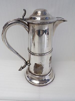 Antique Georgian Silver Plate Flagon, C1820-50's Dome Lid