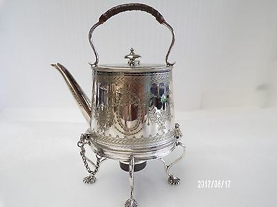 English Victorian Silver Plate kettle on stand, C1880-90, Horace Woodward