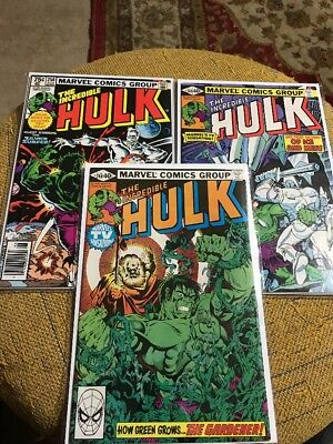 The Incredible Hulk 248,249,250 High Grade Lot Starting Price .99 Cents