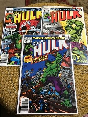 The Incredible Hulk 219, 220,221 Very High Grade Starting Price .99 Cents