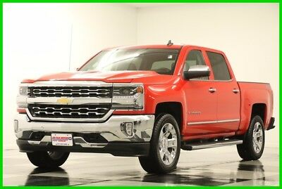 2016 Chevrolet Silverado 1500 4X4 LTZ DVD Sunroof GPS Leather Red Hot Crew Used Like New Navigation Heated Cooled Seats 4WD 5.3L V8 20 In Chrome 17 16 2017