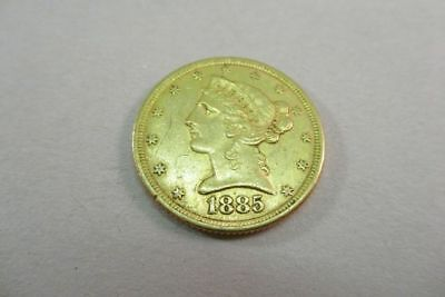 1885 $5 Dollar Gold Liberty Head Coin Extremely Fine