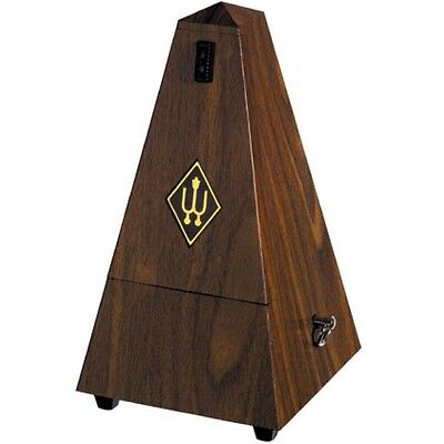 Wittner 855131 Maelzel Pyramid Metronome with Bell in Simulated Walnut Grain