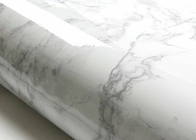 Grey Marble Countertop Vinyl Granite Look Effect Self Adhesive Film Faux Counter