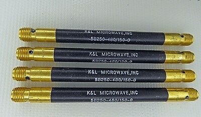 K&L Microwave 5B250-480/150-0 Tubular Bandpass Filter