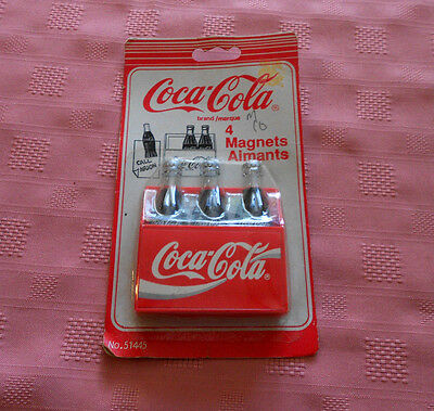1994 Coca-cola Brand/marque Magnets Unopened Pack of 4 Made in/Fabrique Chine
