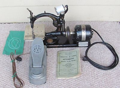 Antique Willcox & Gibbs Chain Stitch Electric Sewing Machine Tested Works Great