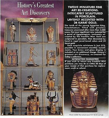 Two of the Treasures of King Tut by Franklin Mint - Mask of Tut and Mirror Case