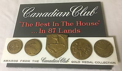 Vintage CANADIAN CLUB C.C.Awards Best in 87 Gold Medal Collection Plastic Sign