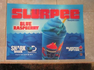 Slurpee 2016 Shark Week Lenticular Sign 18.5 x 27 RARE