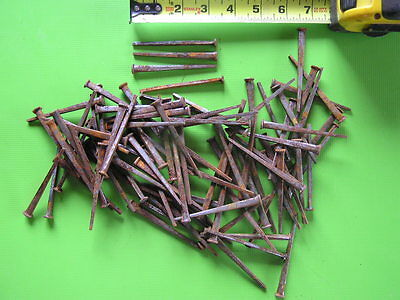 "100 Primitive 3 1/4"" Square Cut Nails"