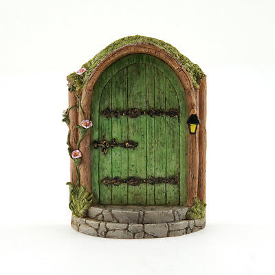 Miniature Dollhouse FAIRY GARDEN - Mystical Green Fairy Door - Accessories