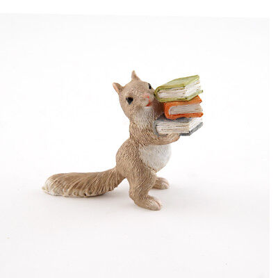 My Fairy Gardens Mini - Little Squirrel Carrying Books - Supplies Accessories