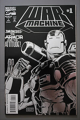 War Machine     '94 Series     #1     VF/Better    Embossed Cover