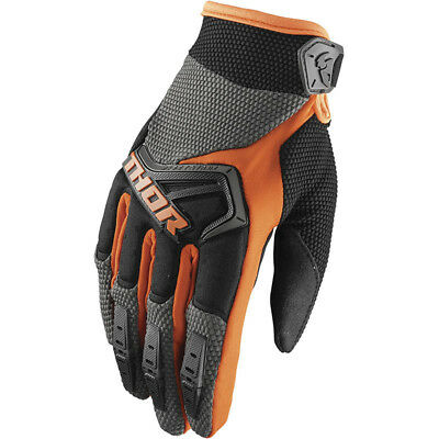Thor NEW Mx 2018 Spectrum Charcoal Orange Motocross Dirt Bike BMX MTB Gloves