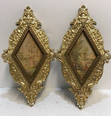 Vintage Ornate Burwood Wall Hanging Pictures - Plaques