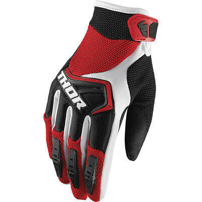 Thor NEW Mx 2018 Spectrum Red Black White Motocross Dirt Bike MYB BMX Gloves