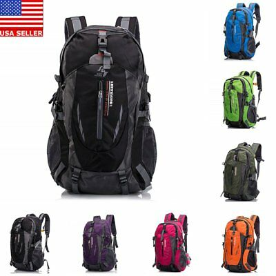 40L Outdoor Backpack Unisex Camping Hiking Riding Shoulders Bag Travel Day Pack