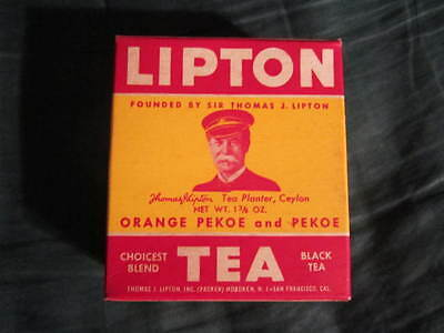 Lipton Tea Original 1941 Box Of Tea, Still Sealed With Its Contents