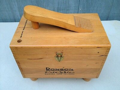 Vintage RONSON Roto-Shine Electric Shoe Polisher with accessories