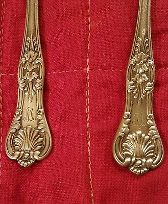 2-Tiffany & Co. Silverplate English King Pattern 1870 Spoons