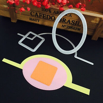 Flop Oval Metal Cutting Dies Stencil Scrapbook Album Decor Card Embossing Craft