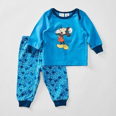 Bnwt ~ Disney Baby Boys Size 00 2Pc Mickey Mouse Spring Pyjamas~ New