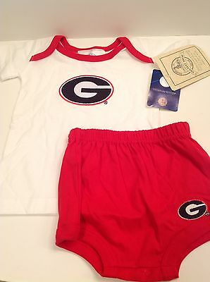 NCAA UGA Georgia Bulldogs Two Piece Outfit Set Baby 12 Months NWT