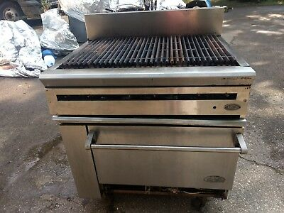 """Dcs  Rolling Stainless 36"""" Commercial Gas Grill Char Brolier W/ Oven"""