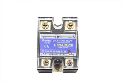 BEM-14840DA Output Single Phase SSR Solid State Relay 3-32V DC to 24-480V 40A
