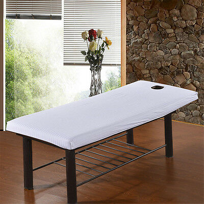1X Beauty Massage SPA Bed Table Elastic Cotton Cover sheets + Face Breath Hole T