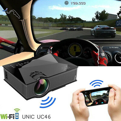 Wireless Mini LCD Projector for UNIC UC46 1080P WIFI Home Theater LED Video