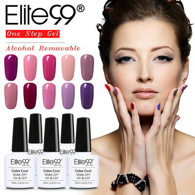 Elite99 10ML One Step Gel Polish Alcohol Removal Soak Off 3-in-1 Manicure Art