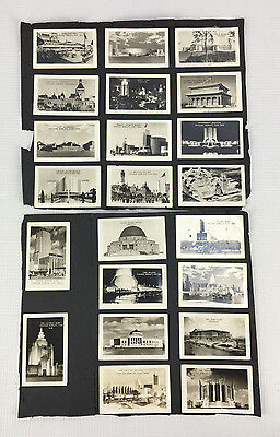 Lot of 22 Miniature Photo Cards 1934 Chicago World's Fair Landmarks & Monuments