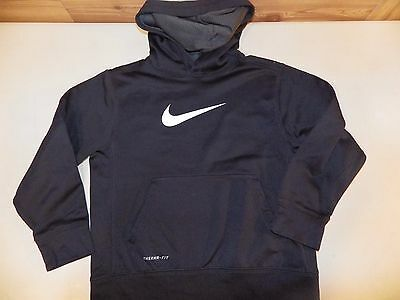 NIKE Youth Therma Fit Black Hoodie Boy/Girl Size Small; EUC Free Shipping