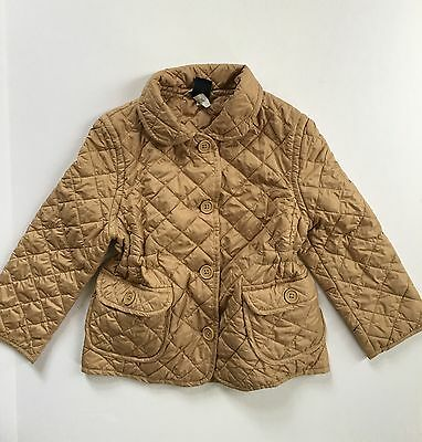 GAP Girl's XS (4) Tan Gold Beige Quilted Lightweight Fitted Barn Jacket