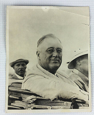 "Vintage Franklin D. Roosevelt Black and White Photo Print 6"" x 5"""