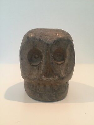 Rare Native American Skull Effigy Pipe 700 BC