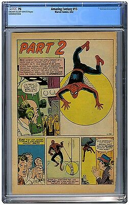 Amazing Fantasy #15 CGC Page 4 Only ------ 1st App of Spider-Man 1962 Original