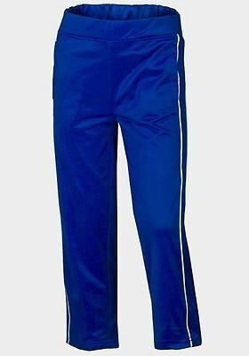 Boys' Track Pants with Contrast Piping Detail - Blue
